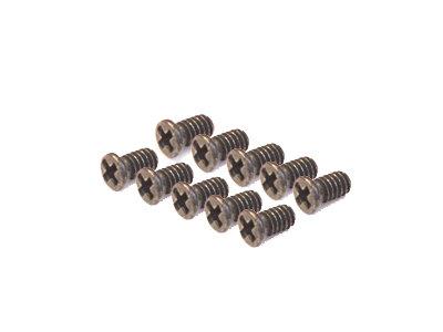+M1.7-3 Cross Head Screws, Black, Steel - M1.7 x 3 (10) (AP25-223)