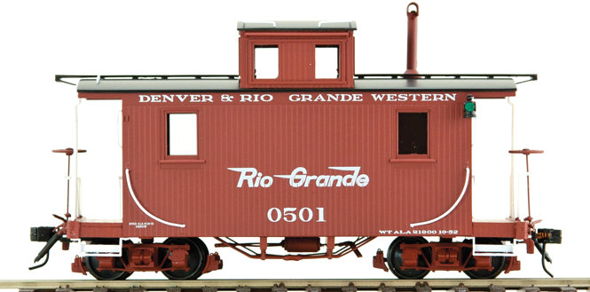AM53-013 On30 Short Caboose - D&RGW #0501 Flying Rio Grande, 1 car