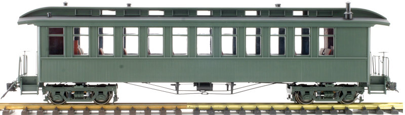 AM54-6113X On3 Coach - Unlettered Green, 1 car