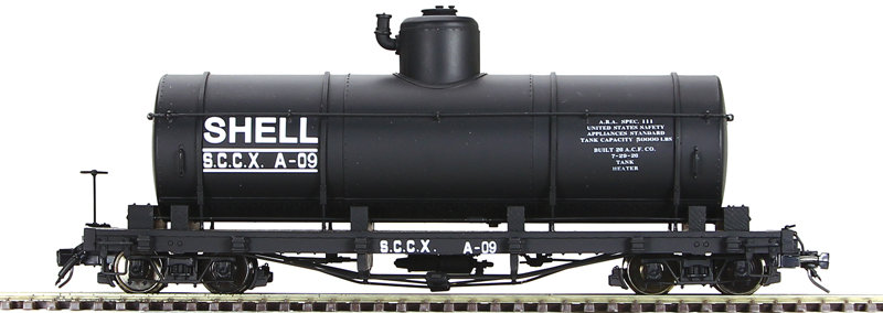 AM52-043X On30 Tank Car - Shell Oil Co. Black, 1 car