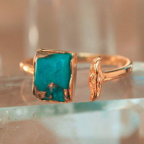 TURQUOISE CHANNEL RING
