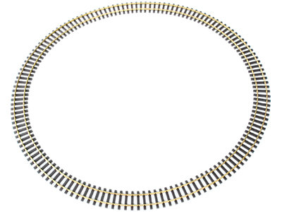 G213-06 Code 332 6 1/2ft. Dia Curve Track - Euro Narrow Gauge, Brass (12pcs)