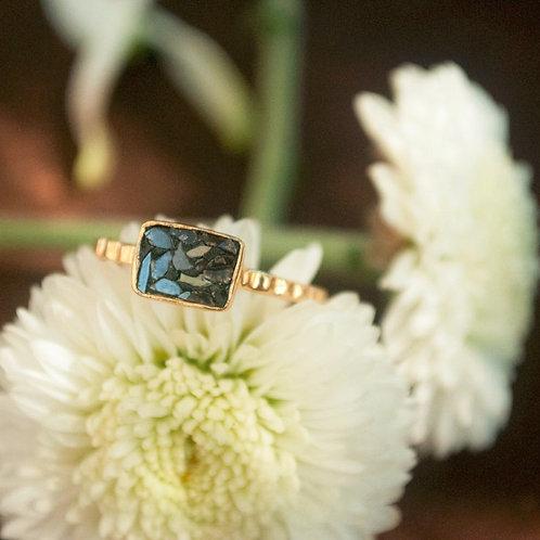 BLACK DIAMOND MOSAIC RING