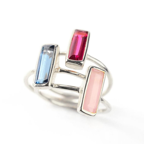 3-STACK MEDIUM BAGUETTE RING SET