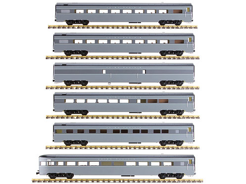 Union Pacific, Gray, 6 Car Set, AL34-383