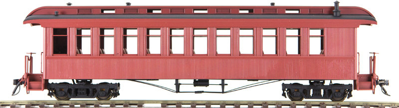 AM54-6123X On3 Coach - Unlettered Red, 1 car