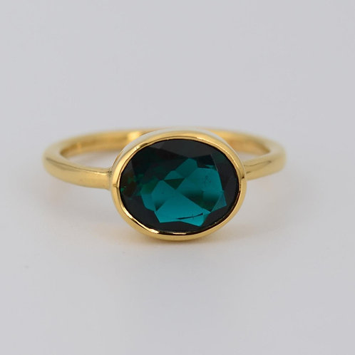 FOREST GREEN SAPPHIRE RING