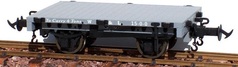 R19-4AB W&L Flat Wagon, W&L Light Grey #17