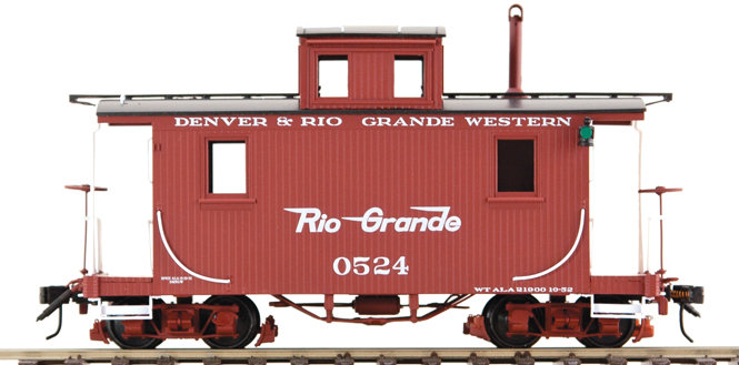 AM53-0123 On3 Short Caboose - D&RGW #0524 Flying Rio Grande, 1 car