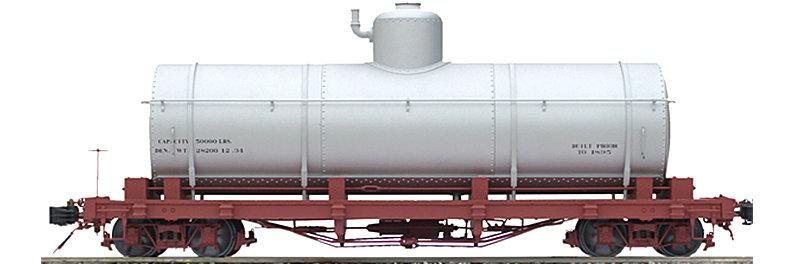 AM2208-01 Tank Car - Silver Data Only, 1 car