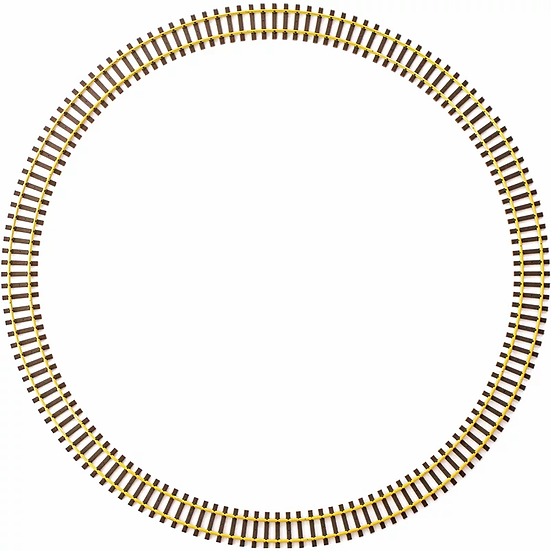 Code 332 Curve Track Brass