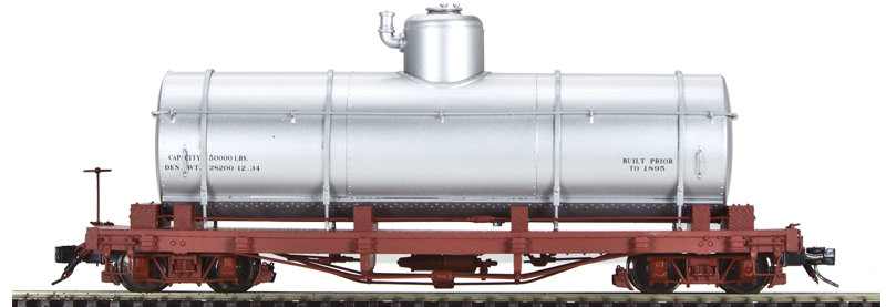 AM52-040X On30 Tank Car - Data Only, Silver, 1 car