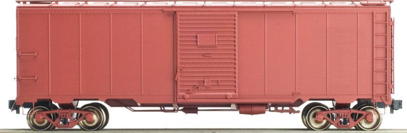 AM32-551X AAR Box Car - Unlettered, Box Car Red, 1 car
