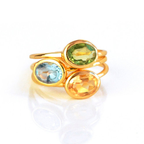 3-STACK MEDIUM OVAL RING SET
