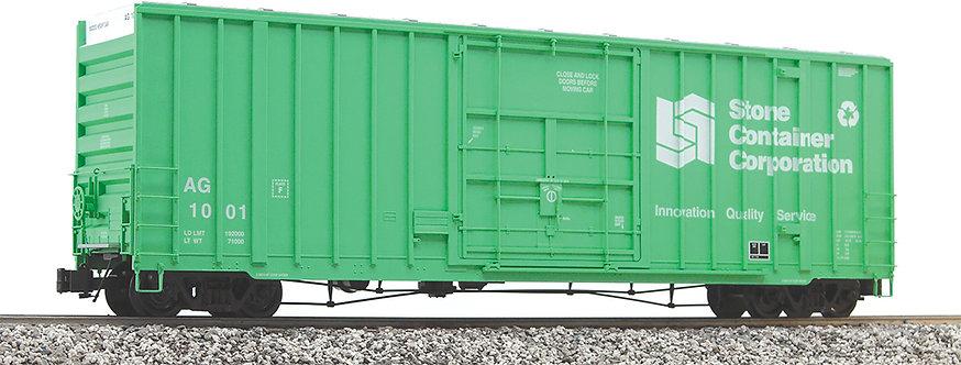 G411-14X 50' Hi-Cube Box Car - Stone Container Corp, Green, 1 car