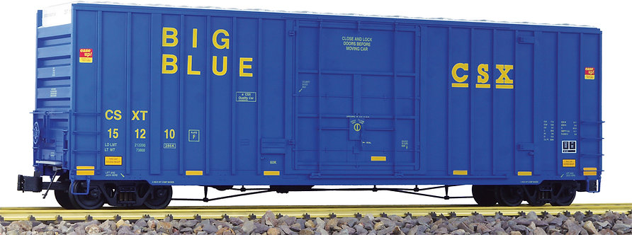"G411-02X 50' Hi-Cube Box Car - CSX ""Big Blue"", Blue, 1 car"