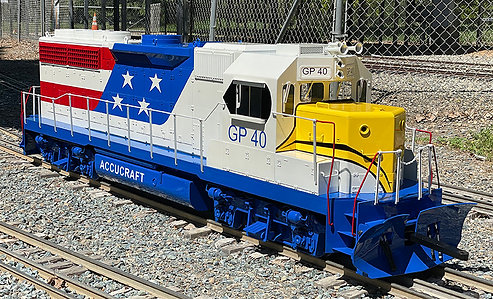 "Accucraft Ride-On - GP40 (1.6"" Scale, 7.5/7.25"" Gauge) Base Model"