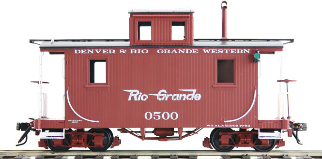 AM53-0143 On3 Short Caboose - D&RGW #0500 Flying Rio Grande, 1 car