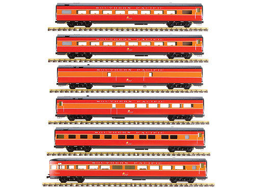 Southern Pacific Daylight, Red & Orange, 6 Car Set, AL34-385