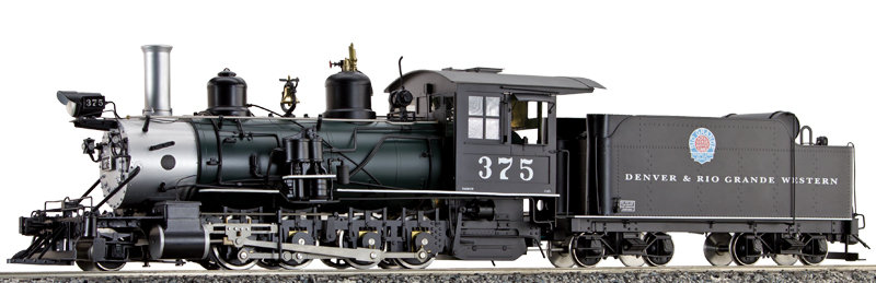AL87-122C D&RGW C-25 #375 Green Boiler Moffat, Coal Fired