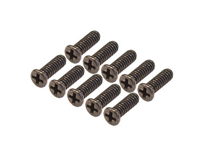 +M1.7-5 Cross Head Screws, Black, Steel - M1.7 x 5 (10) (AP25-225)