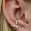Thumbnail: WHITE TOPAZ EARRING CUFF