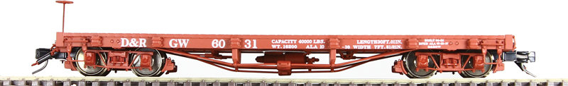 AM52-0313X On3 Flat Car - D&RGW, 1 car