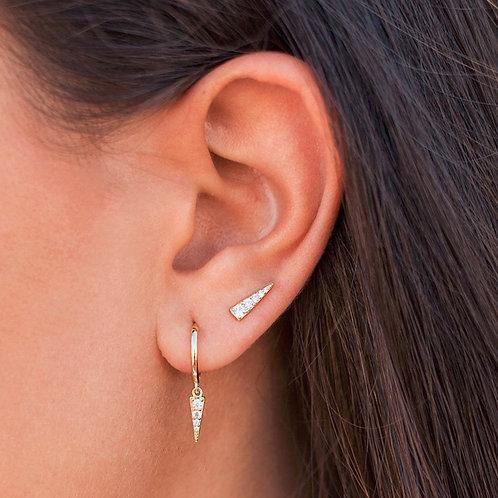 PAVE TRIANGLE STUD EARRINGS