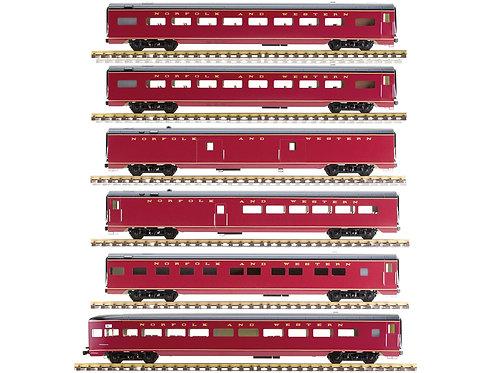Norfolk & Western Maroon, 6 Car Set, AL34-387