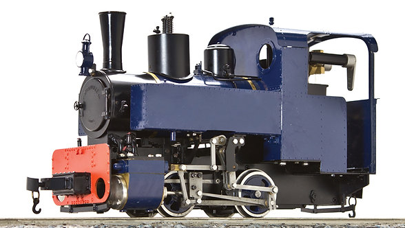 AL87-211A Decauville 0-4-0T, 45mm Gauge, Blue, Live Steam