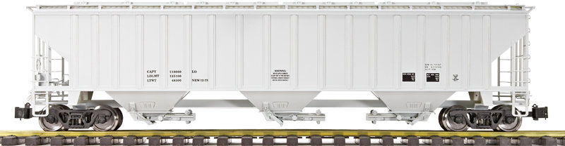 G431-01X 3-Bay Covered Hopper -  Data Only Gray, 1 car