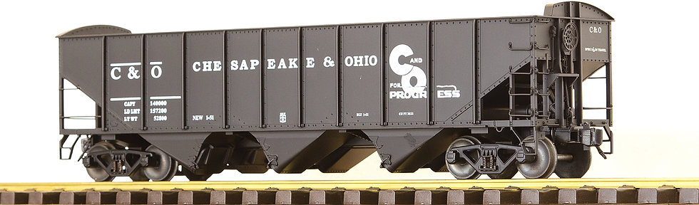 AM32-605X C&O 3-Bay Hopper w/ End Scatter Shields, Unnumbered