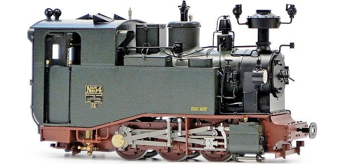 AL87-011B Saxonian 1K 0-6-0 #50, Green, Live Steam
