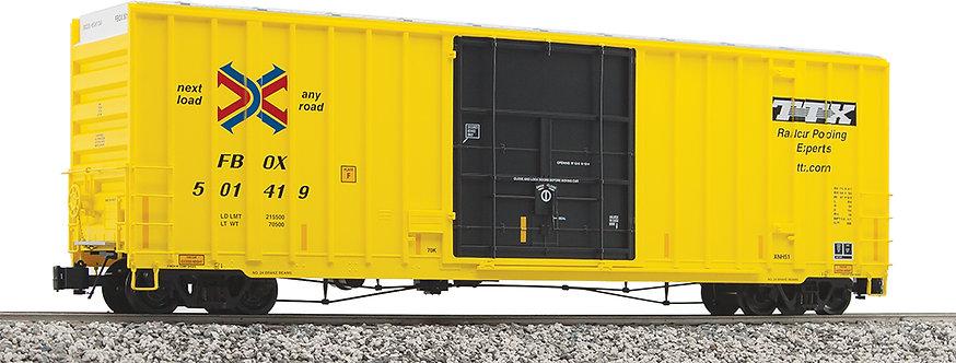 G411-01X 50' Hi-Cube Box Car - TTX Yellow, 1 car