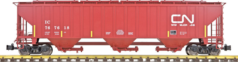 G431-04X 3-Bay Covered Hopper - Canadian National, 1 car