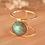Thumbnail: LABRADORITE MOON GOLD RING