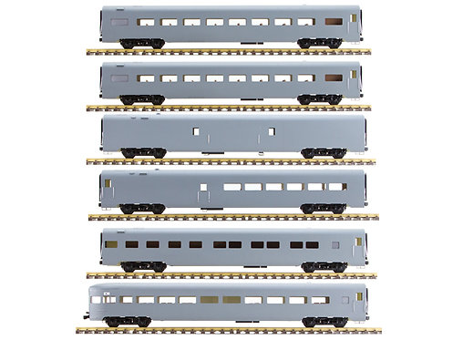 Unlettered, Gray, 6 Car Set, AL34-381