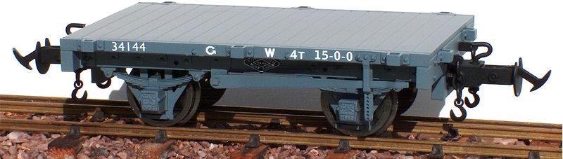 R19-4C W&L Flat Wagon, GW Dark Grey, 1 car