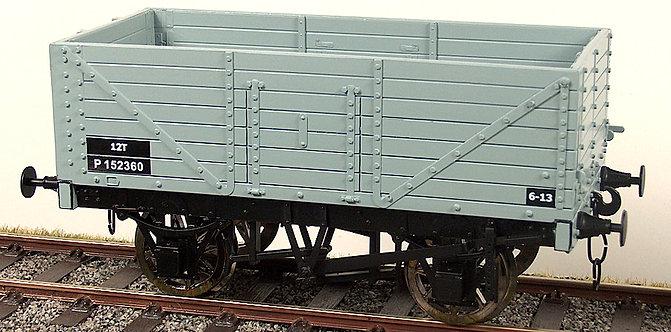 R32-1AX RCH 7 Plank Wagon - BR Grey, 1 car