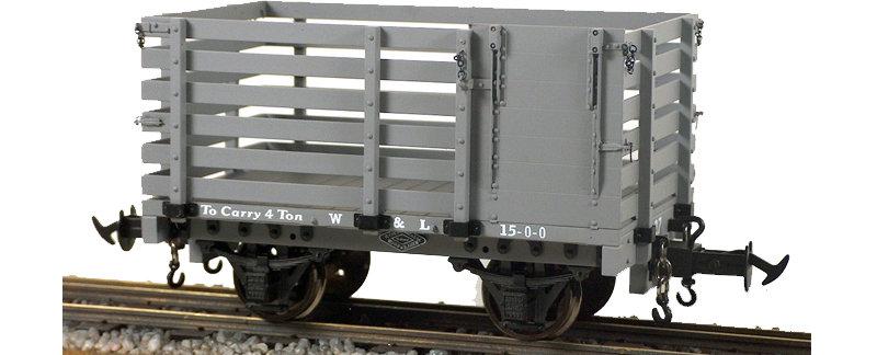 R19-23A W&L Sheep Wagon, W&L Light Grey, 1 car