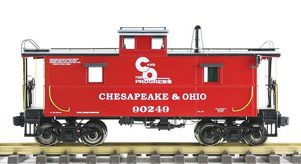 AL93-056 C&O Steel Caboose - Red #90212