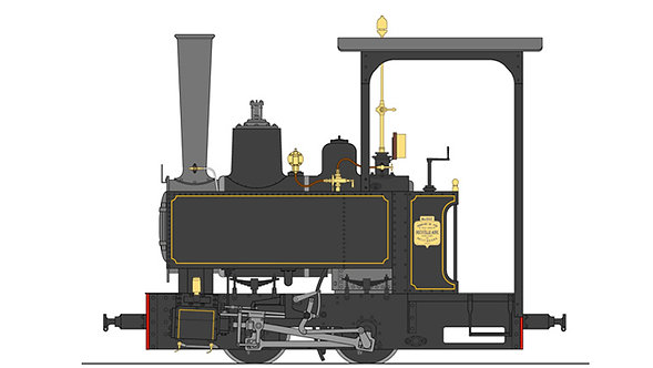 B77-533 Decauvile 3-T 0-4-0, Black, Live Steam