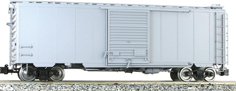 G401-17X PS-1 Box Car - Gray, Unlettered, 1 car