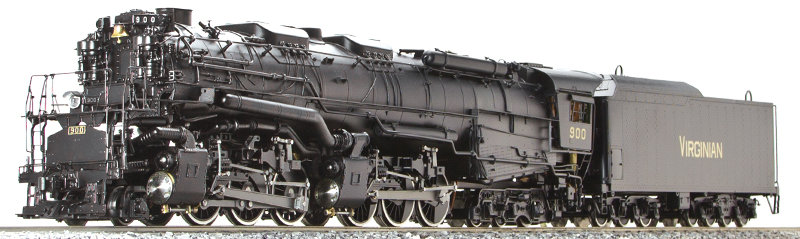 AL97-415 Allegheny Virginian #900 2-6-6-6, Late Version, Live Steam