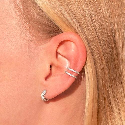 DOUBLE SAPPHIRE EAR CUFF
