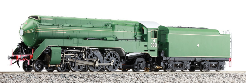 AL98-381 C38 4-6-2 Streamlined, Verdant Green, Electric