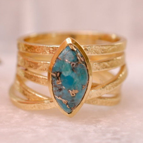 MARQUISE TURQUOISE WRAP RING
