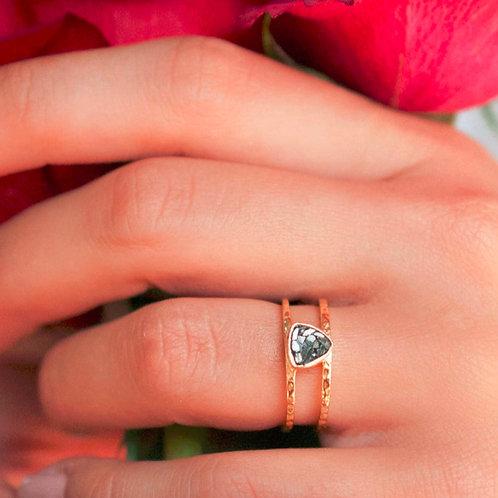 BLACK DIAMOND MOSAIC TRILLION RING
