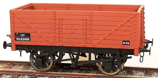 R32-1BX RCH 7 Plank Wagon - BR Bauxite, 1 car