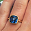 Thumbnail: LONDON BLUE TOPAZ CUSHION RING